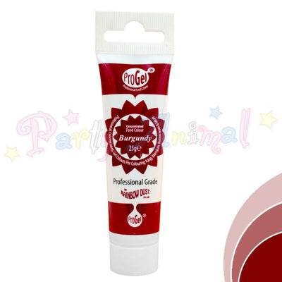 Rainbow Dust Edible Food Colour Pro Gel - BURGUNDY