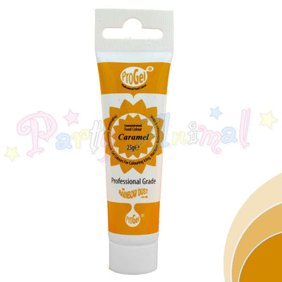 Rainbow Dust Edible Food Colour Pro Gel - CARAMEL