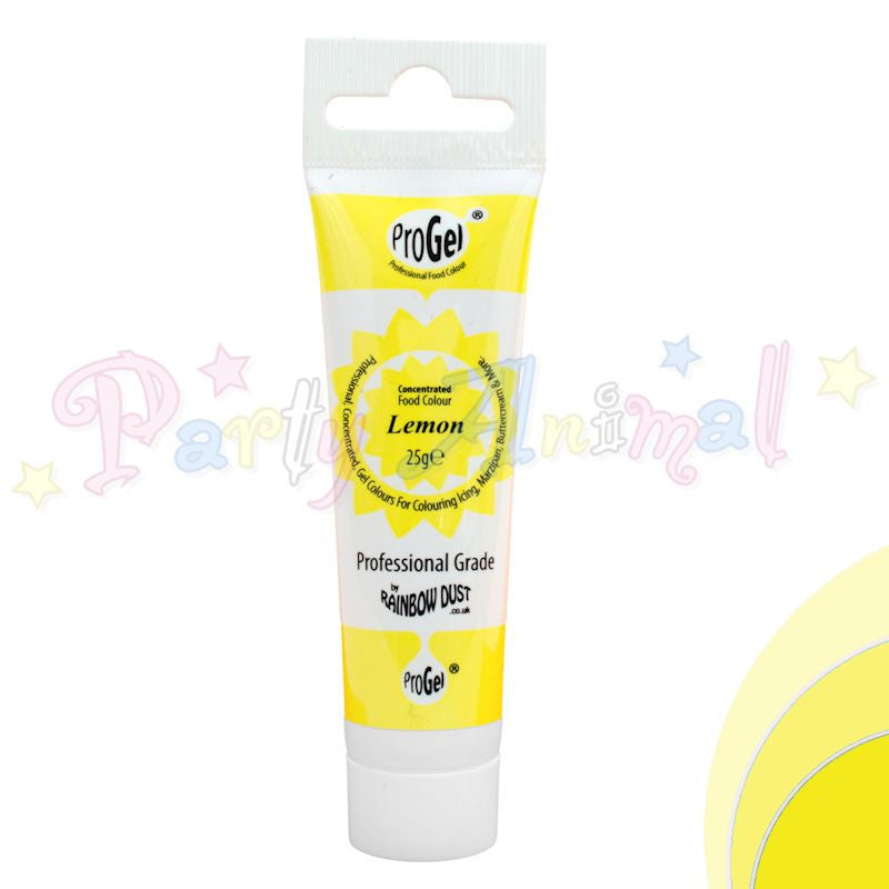 Rainbow Dust Edible Food Colour Pro Gel - LEMON YELLOW