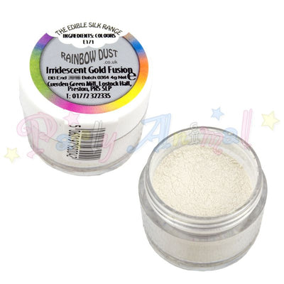 Image Iridescent Gold Fusion. Pearl range Rainbow Dust. Edible. Partyanimalonline