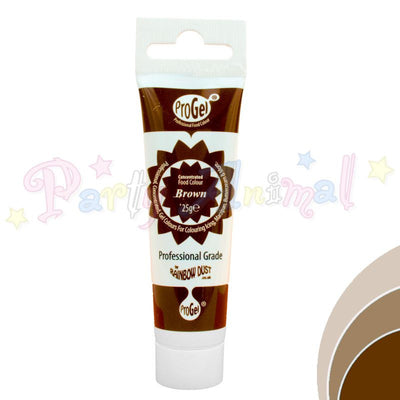 Rainbow Dust Edible Food Colour Pro Gel - BROWN
