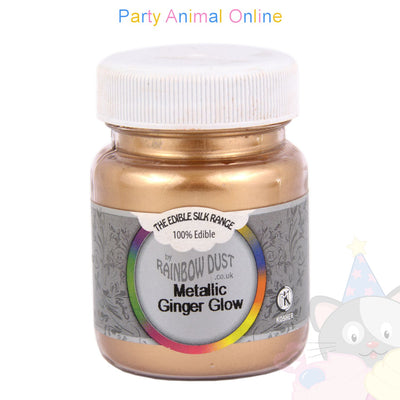 mini bulk. image. metallic ginger glow. rainbow dust. edible. from partyanimalonline. for cake decorating