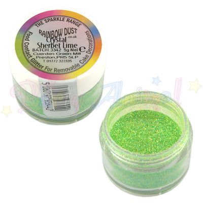 Rainbow Dust Glitter Sparkle Colours - CRYSTAL SHERBET LIME