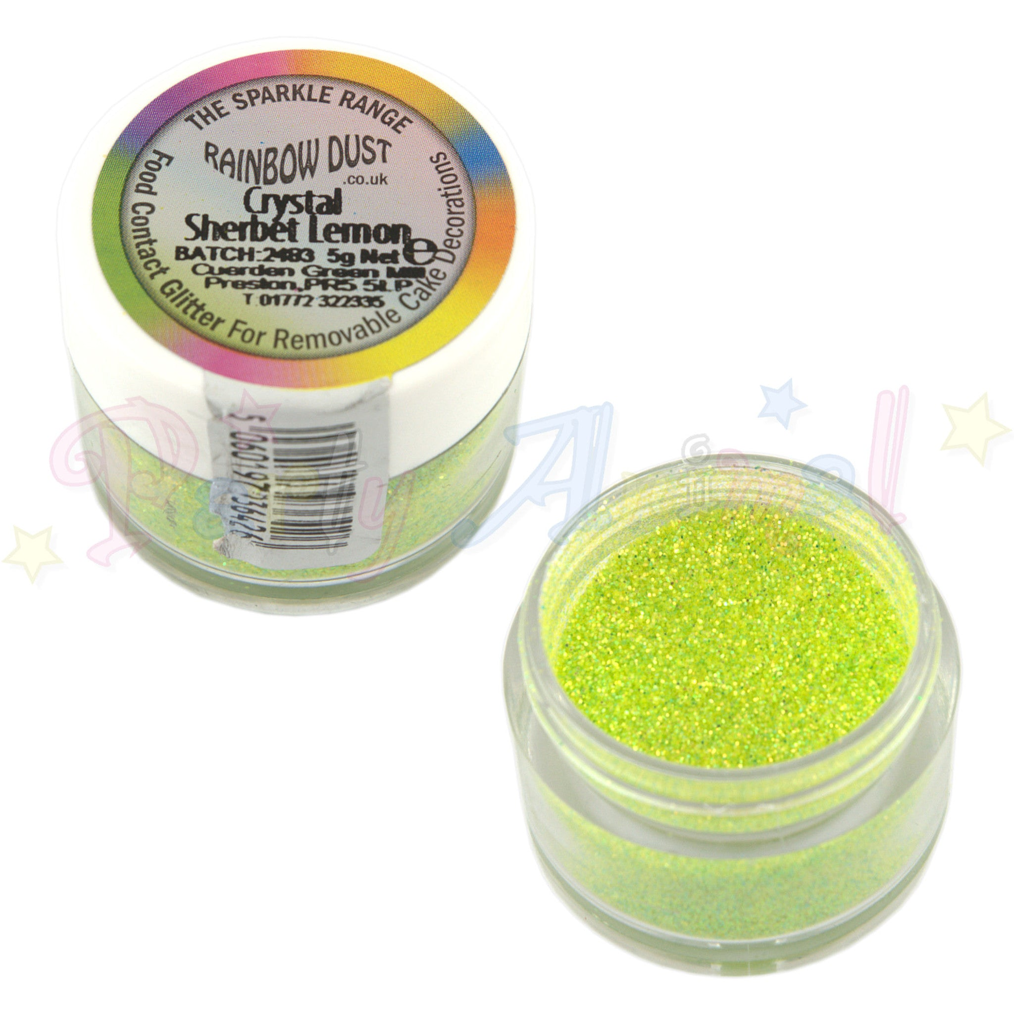 Rainbow Dust Glitter Sparkle Colours - CRYSTAL SHERBET LEMON