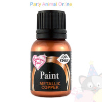 metallic copper edible paint from rainbow dust . partyanimalonline