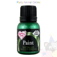 edible paint metallic holly green from rainbow dust. partyanimalonline