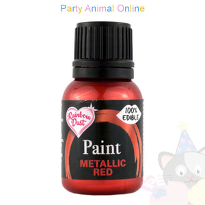 edible paint metallic red from rainbow dust. partyanimalonline image