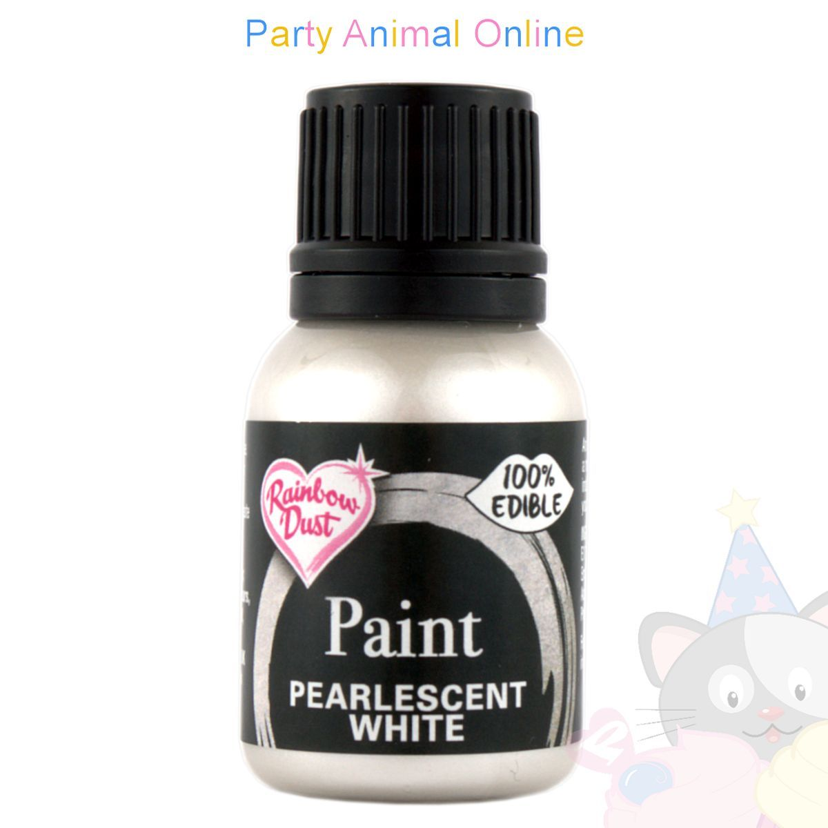 Rainbow Dust Edible Food Paint - PEARLESCENT WHITE