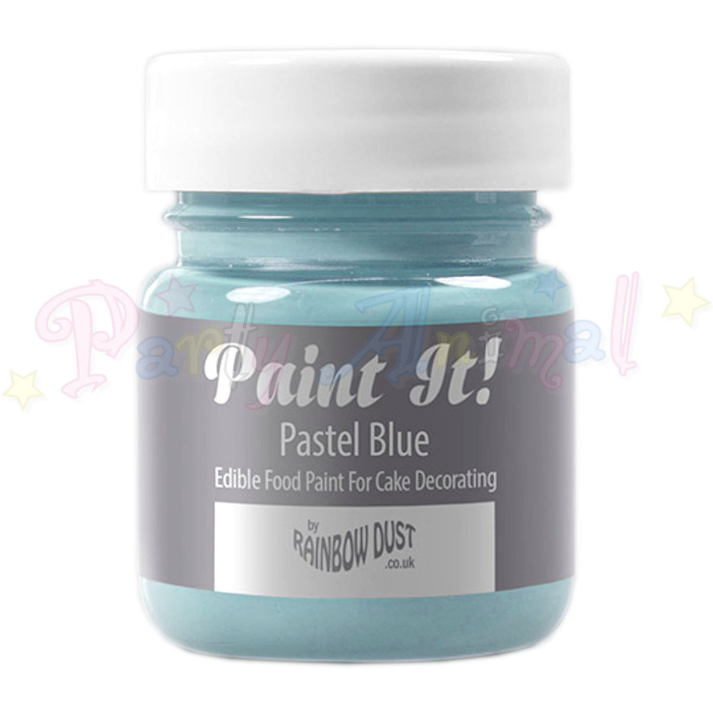Rainbow Dust Edible Food Paint - Paint It!  PASTEL BLUE