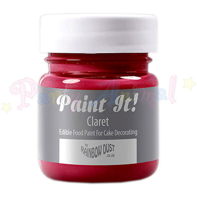 Rainbow Dust Edible Food Paint - Paint It!  CLARET