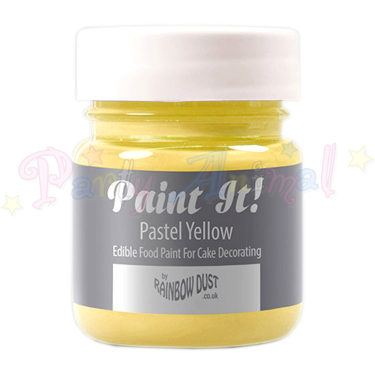 Rainbow Dust Edible Food Paint - Paint It!  PASTEL YELLOW