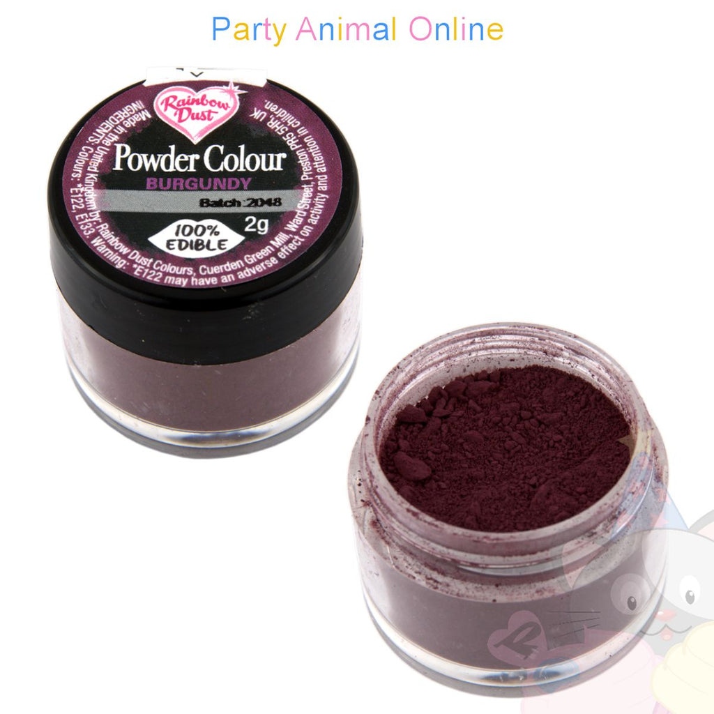 Rainbow Dust Powder Colour Range - BURGUNDY