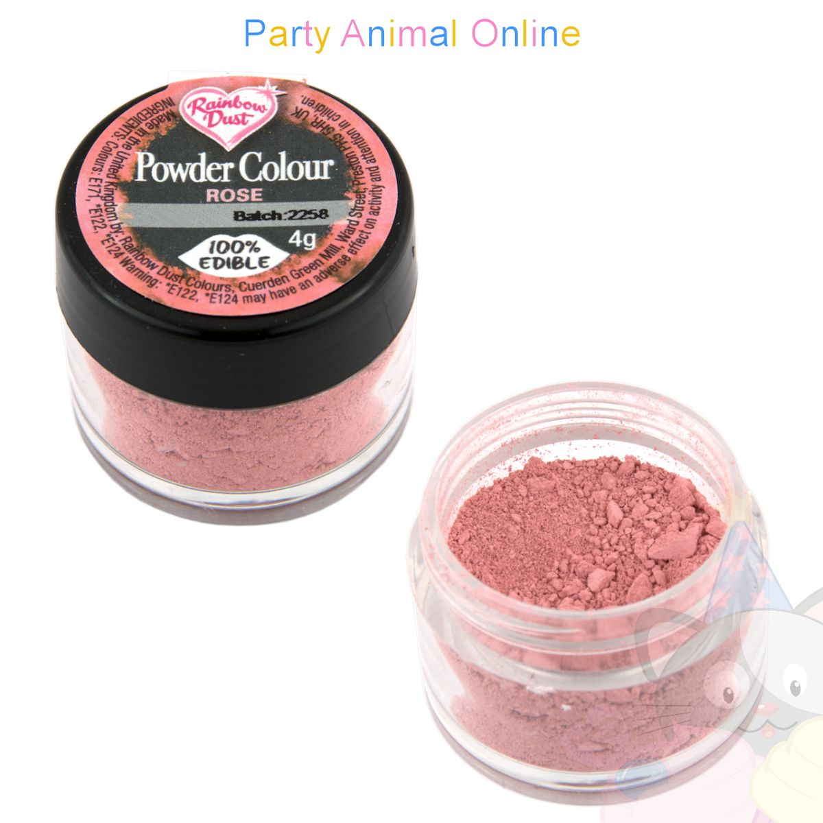 Rainbow Dust Powder Colour Range - ROSE