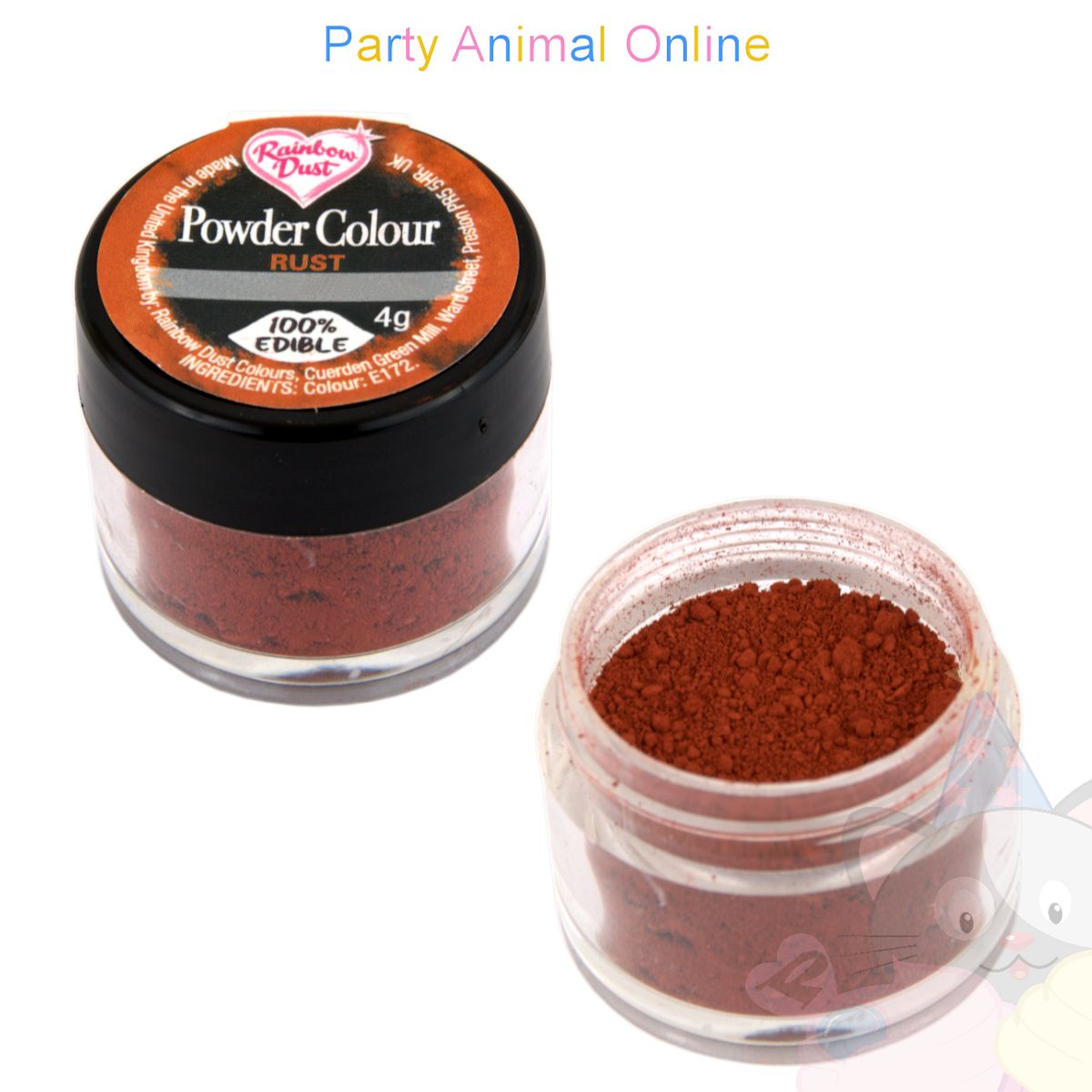 Rainbow Dust Powder Colour Range - RUST
