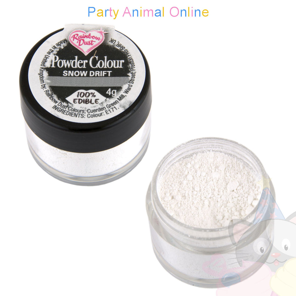 Rainbow Dust Powder Colour Range - SNOW DRIFT WHITE