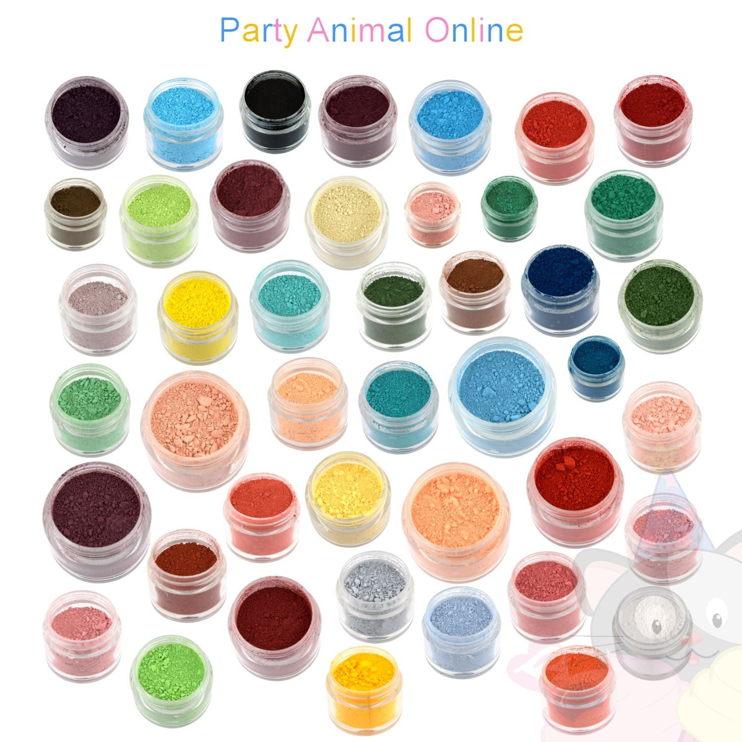 Rainbow Dust Powder Colour Range - Complete Set of 44