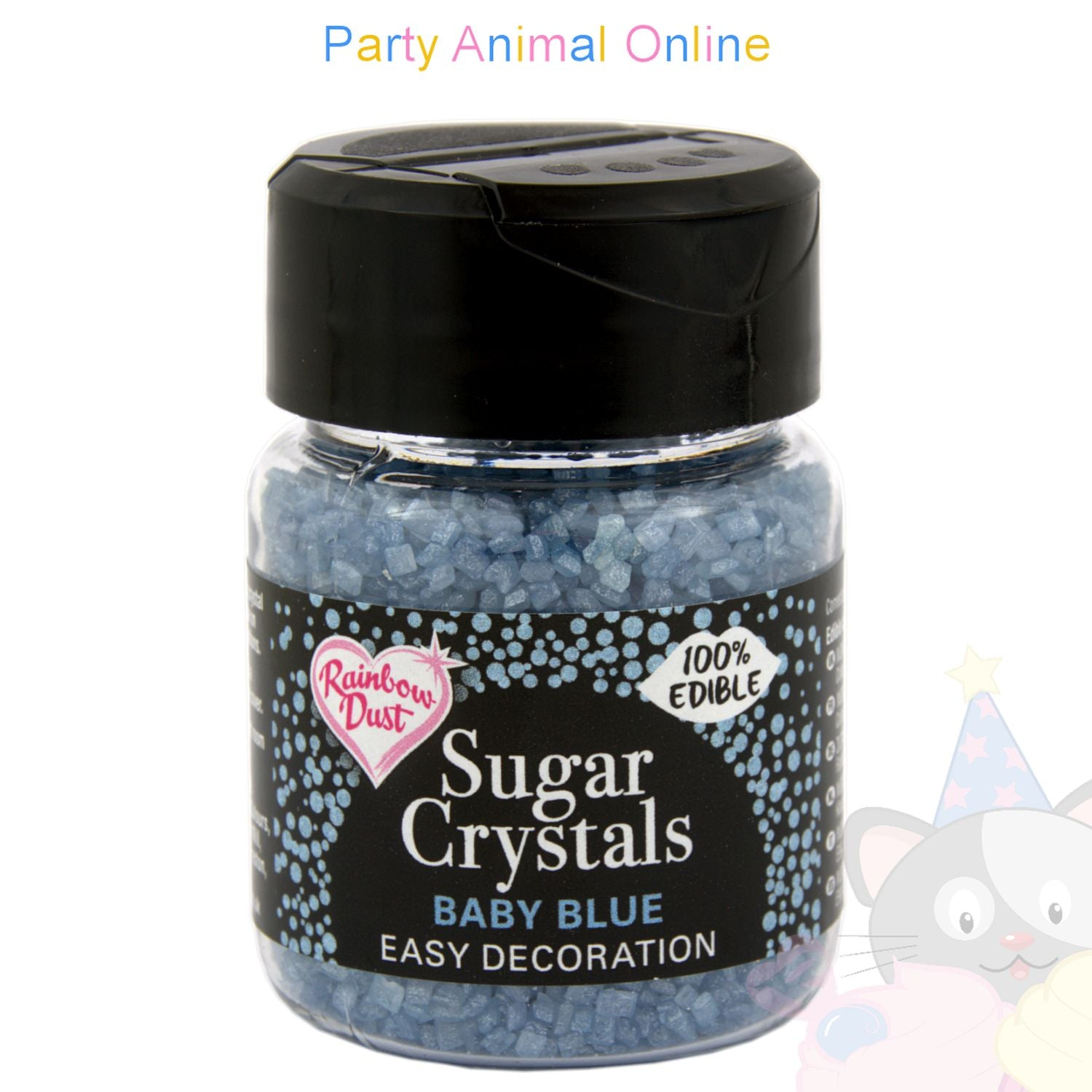 Sparkling Sugar Crystals From Rainbow Dust - Baby Blue