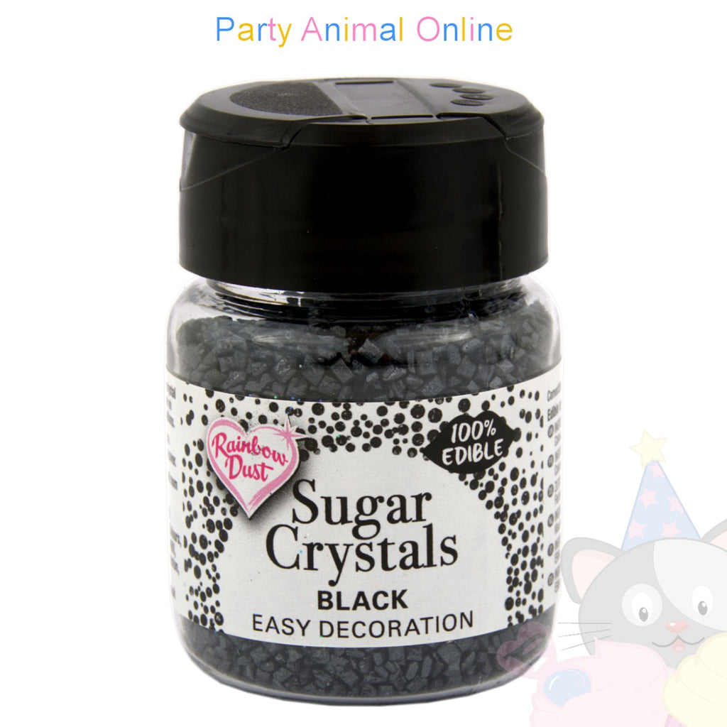 Sparkling Sugar Crystals From Rainbow Dust - Black