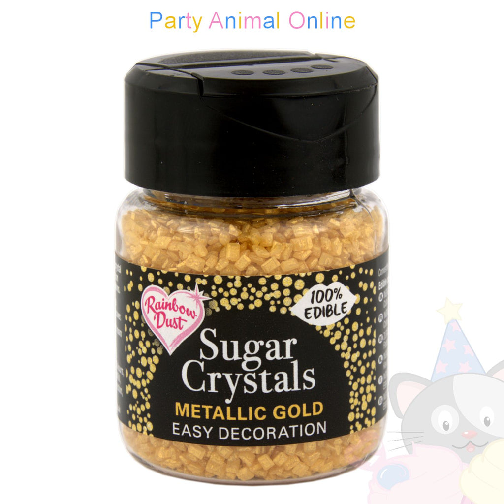 Sparkling Sugar Crystals From Rainbow Dust - Metallic Gold