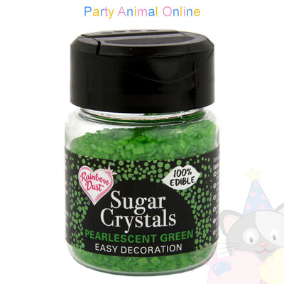 Sparkling Sugar Crystals From Rainbow Dust - Pearlescent Green
