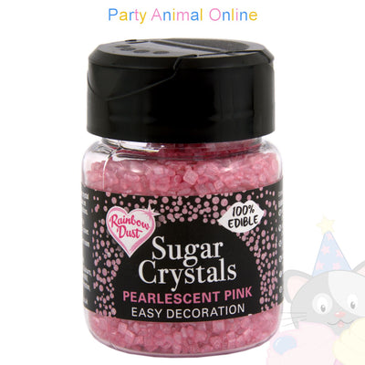 Sparkling Sugar Crystals From Rainbow Dust - Pearlecent Pink