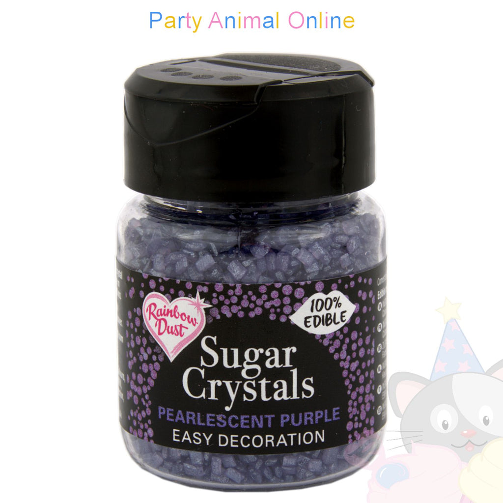 Sparkling Sugar Crystals From Rainbow Dust - Pearlescent Purple