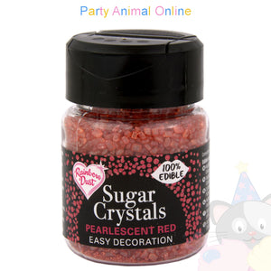 Sparkling Sugar Crystals From Rainbow Dust - Pearlescent Red