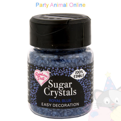 Sparkling Sugar Crystals From Rainbow Dust - Royal Blue