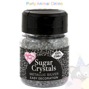 Sparkling Sugar Crystals From Rainbow Dust - Metallic Silver