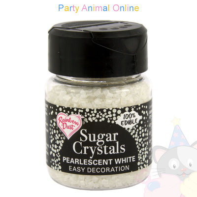 Sparkling Sugar Crystals From Rainbow Dust - Pearlescent White