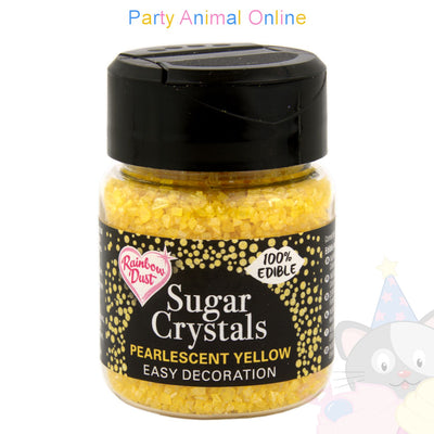 Sparkling Sugar Crystals From Rainbow Dust - Pearlescent Yellow