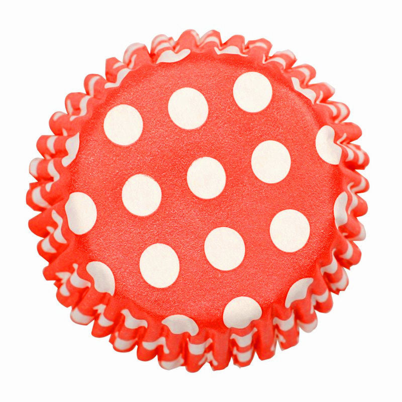 Baking Cases - approx. 54/pack - Red Polka Dot