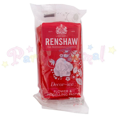 Renshaw Flower & Modelling Paste - Carnation Red 250g