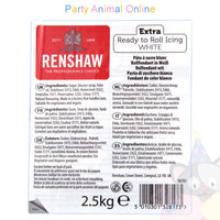 Renshaw Ready-to-Roll Sugarpaste Icing - White Extra - 2.5kg, partyanimalonline, image
