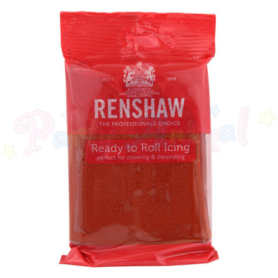 Renshaws Decor-Ice Ready-to-Roll Sugarpaste Icing (Regalice) - Ruby Red
