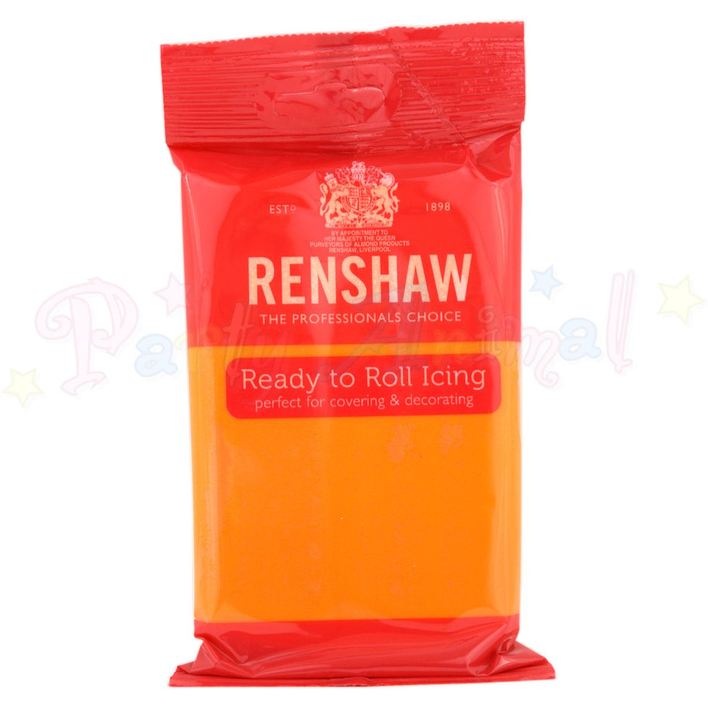 Renshaws Decor-Ice Ready-to-Roll Sugarpaste Icing (Regalice) - Tiger Orange