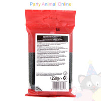 Renshaw, black extra, ready to roll icing, 250grm, partyanimalonline, image