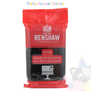 Renshaw, black extra, ready to roll icing,250grm,  partyanimalonline, image