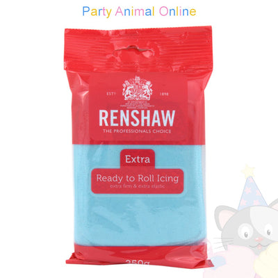 Renshaw, blue extra, ready to roll icing, 250grm, partyanimalonline, image