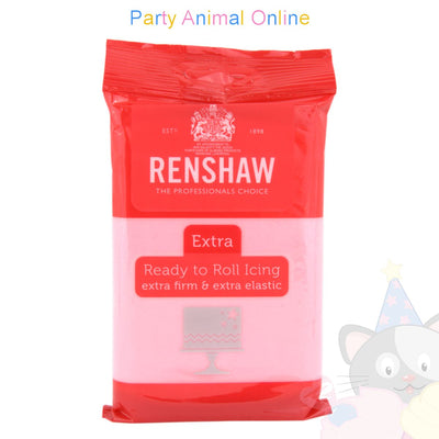 Renshaw pink extra, ready to roll icing, 250grm, image,partyanimalonline
