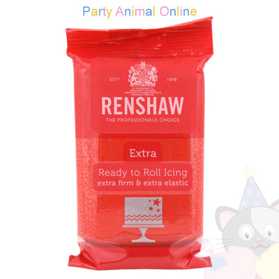 Renshaw Ready-to-Roll Sugarpaste Icing - Red Extra - 250grm, partyanimalonline, image