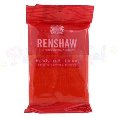 Renshaws Decor-Ice Ready-to-Roll Sugarpaste Icing (Regalice) - Poppy Red