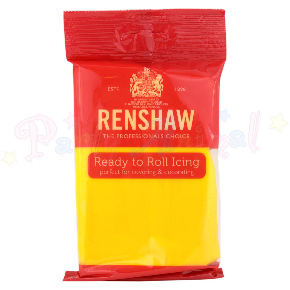 Renshaws Decor-Ice Ready-to-Roll Sugarpaste Icing (Regalice) - Primary Yellow