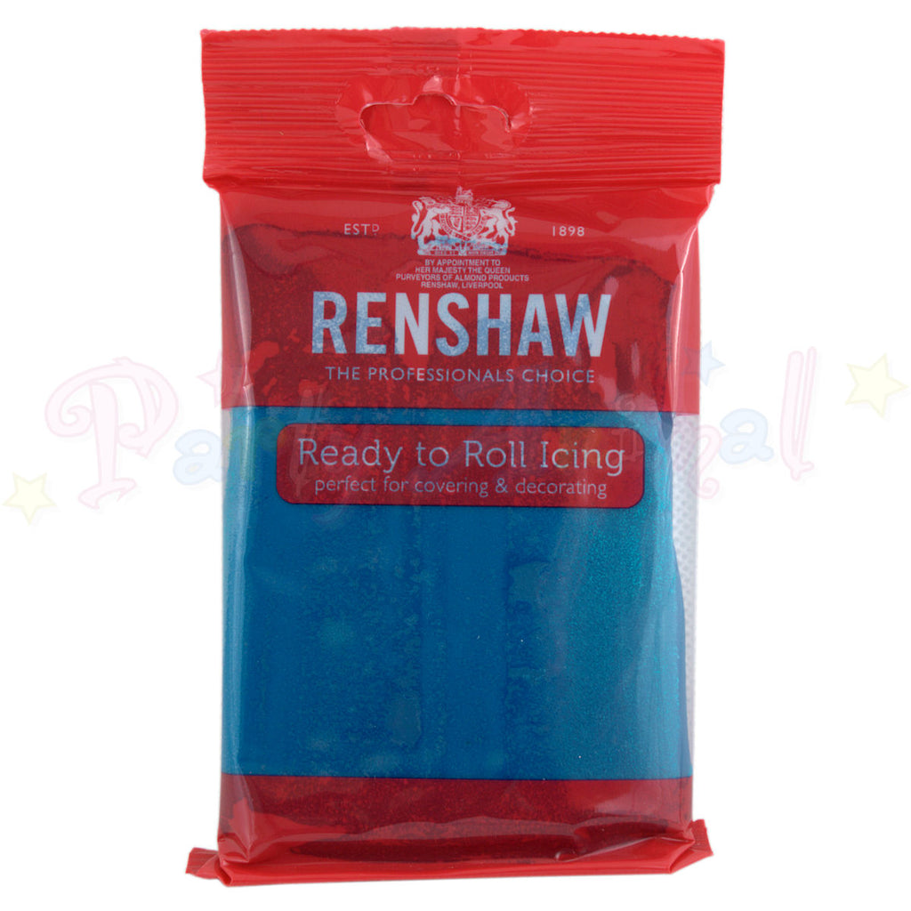 Renshaws Decor-Ice Ready-to-Roll Sugarpaste Icing (Regalice) - Atlantic Blue