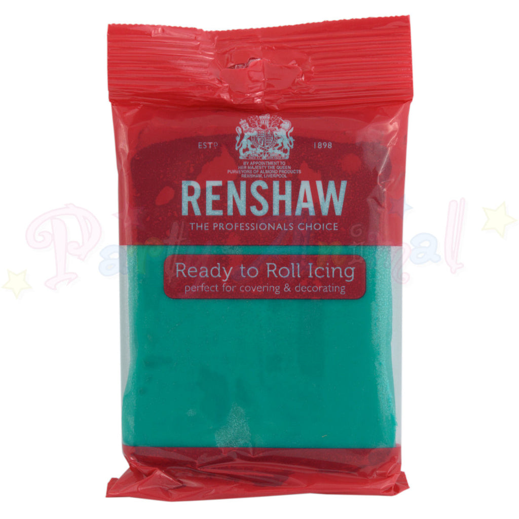 Renshaws Decor-Ice Ready-to-Roll Sugarpaste Icing (Regalice) - Jade Green