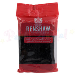 Renshaws Decor-Ice Ready-to-Roll Sugarpaste Icing (Regalice) - Jet Black