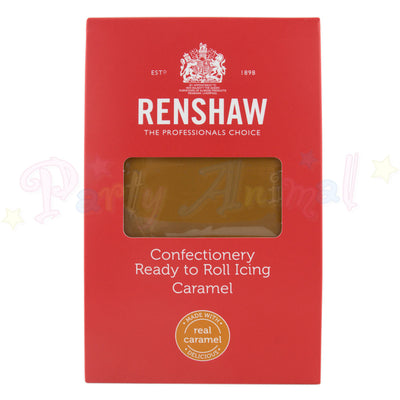 Renshaw, caramel ready to roll icing, 1kg, with real caramel,