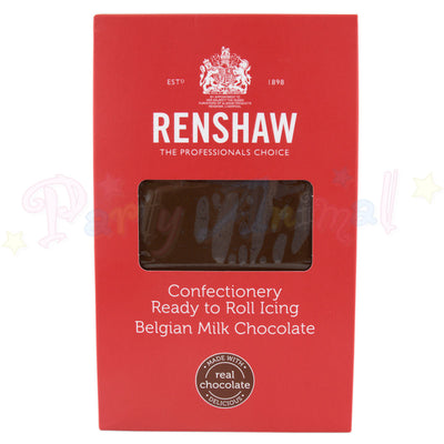 Belgian milk chocolate, ready to roll icing, Renshaw, 1kg, image