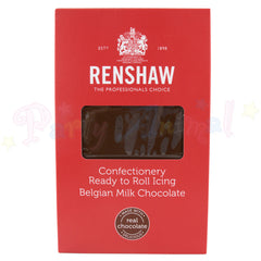 Renshaw - Ready to Roll Sugarpaste - Belgian Milk Chocolate - 1Kg