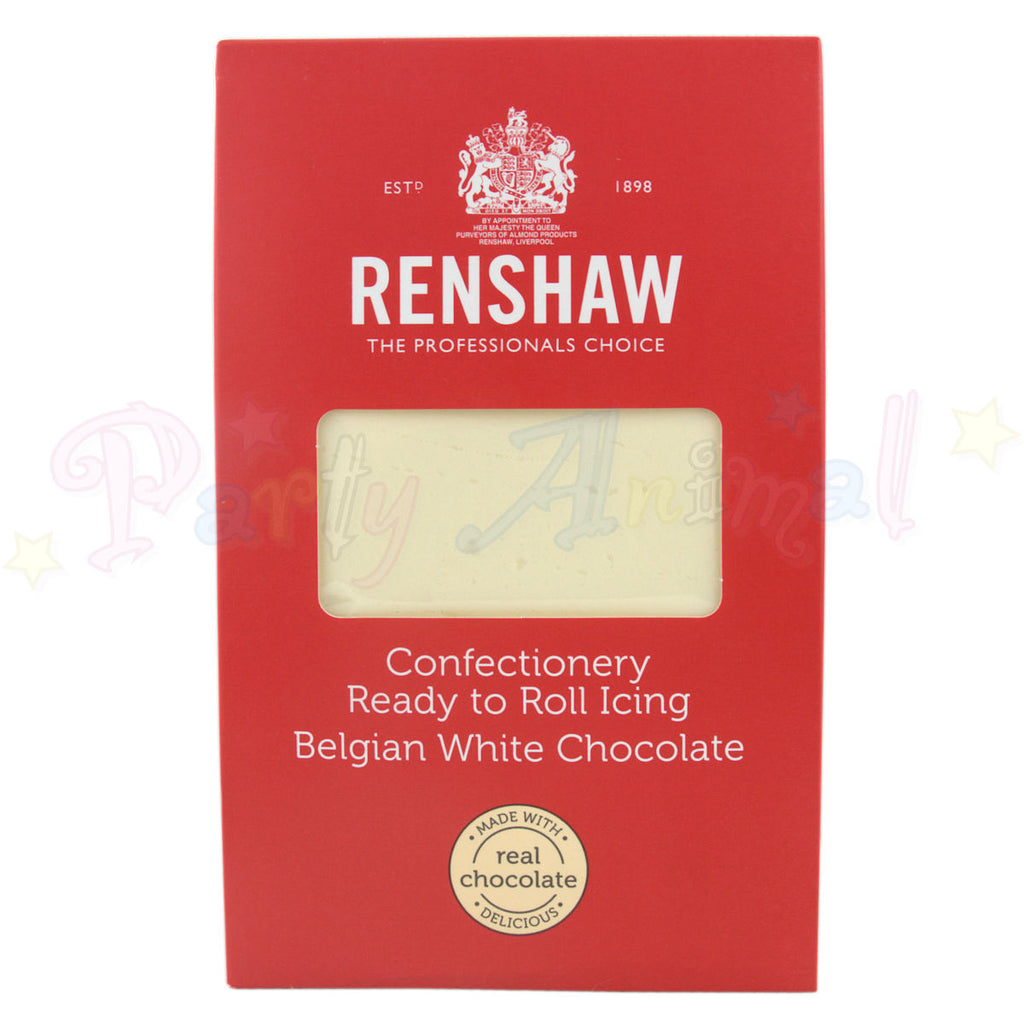 Renshaw - Confectionery Ready to Roll Icing - Belgian White Chocolate 1Kg